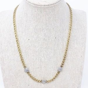 Love Earth Sterling Silver Gold Plated Necklace